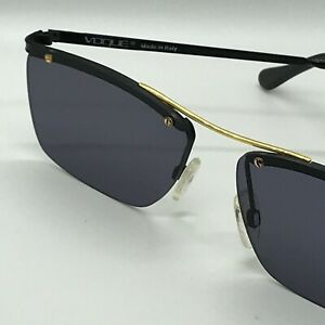 VINTAGE-034-VOGUE-034-Sunglasses-mod-Johan-57-16-Black-Gold-Grey-Lenses