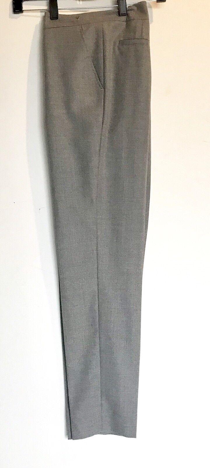 Carolina Herrera Grey Fine Wool Pant   Trouser.NWT Retail  440 Price  159 Size 2