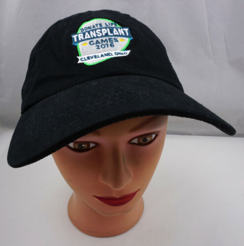 Donate Life Transplant Games Hat Black Adjustable
