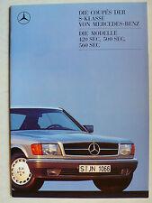 Prospekt Mercedes C 126 - 420 SEC, 500 SEC, 560 SEC, 8.1987, 40 Seiten