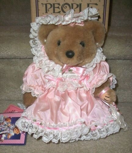 Bearly People Victorian Elegance Little Missy 1993 12in Pink VB526 NIB wTag