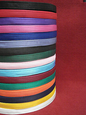 2 ,5 ,10 ,25 ,50   metres Cushion Webbing In 16 Various Colours 20mm bags straps