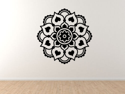 Vinyl Wall Decal Indian Ethnic Design #2 Flower Floral Beauty Tribal Style