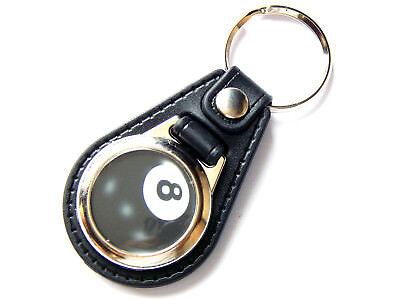 Sport Kind-Hearted Billardkugel 8 Ball Sport Qualitäts Leder Und Chrom Schlüsselring Badminton