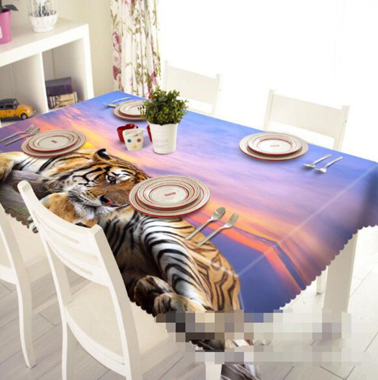 3D Tiger Animal 217 Tablecloth Table Cover Cloth Birthday Party Event AJ Lemon