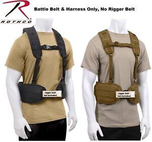 Image is loading Battle-Belt-W-Load-Bearing-Harness-Tactical-MOLLE- 01b9012e28e