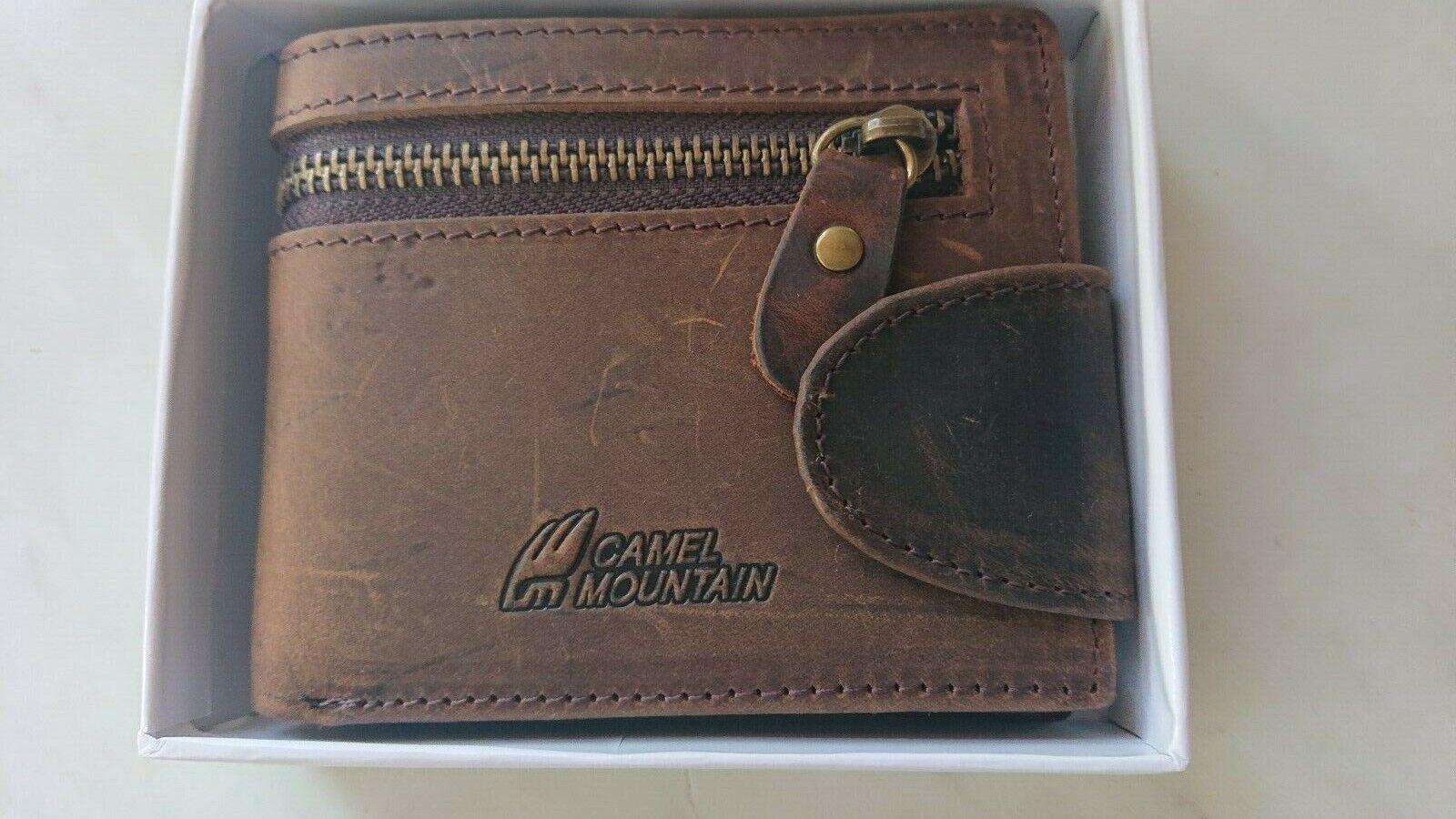 Camel Mountain Wallet in box