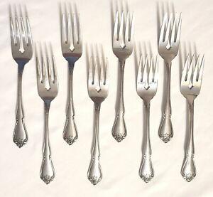 Oneida Stainless Steel ARBOR ROSE//TRUE ROSE Lot of 2 Salad Forks