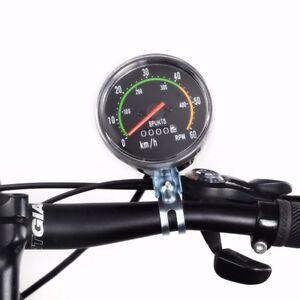Fahrrad Tachometer Tacho Computer Analog Kilometerzähler Radfahren mit Kabel Neu