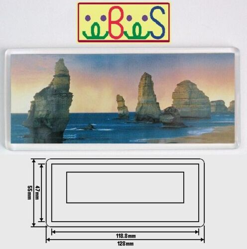 20x Blank Clear Acrylic Fridge Magnet 128x55mm Frame /& 119x47mm Photo Size E1304