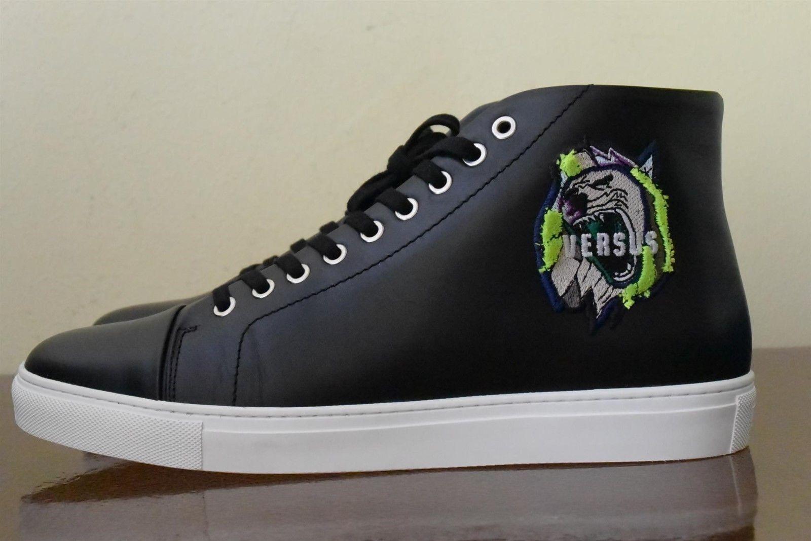 compra meglio VERSACE VERSUS Rebel Lion Patch nero Leather Leather Leather Hi-top scarpe da ginnastica Sz 10 (44)  grandi prezzi scontati