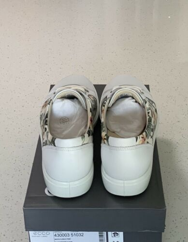 Sizes Details about  /ECCO Women's Soft 7 Fashion Lightweight Sneakers White//Flower