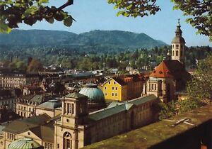 Selbstbewusst Gehemmt Verlegen Baden-baden Befangen ansichtskarte Blick Vom Neuen Schloß Unsicher