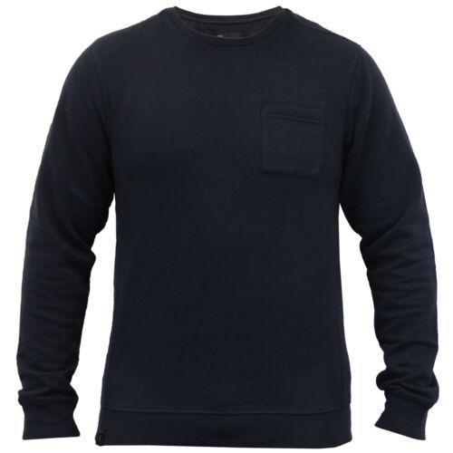 mens sweatshirt Dissident waffle pullover crew neck fleece lined casual winter