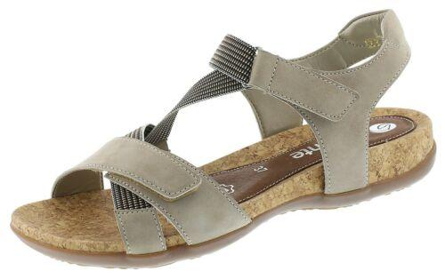 Remonte R3257-42  Sandalen Leder Sandaletten Damenschuhe grau 36-43 Neu4
