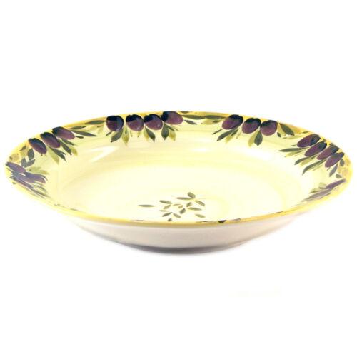 Ceramiche Alfa Black Olive Italian Mediterranean Ceramic Catering Serve Bowl