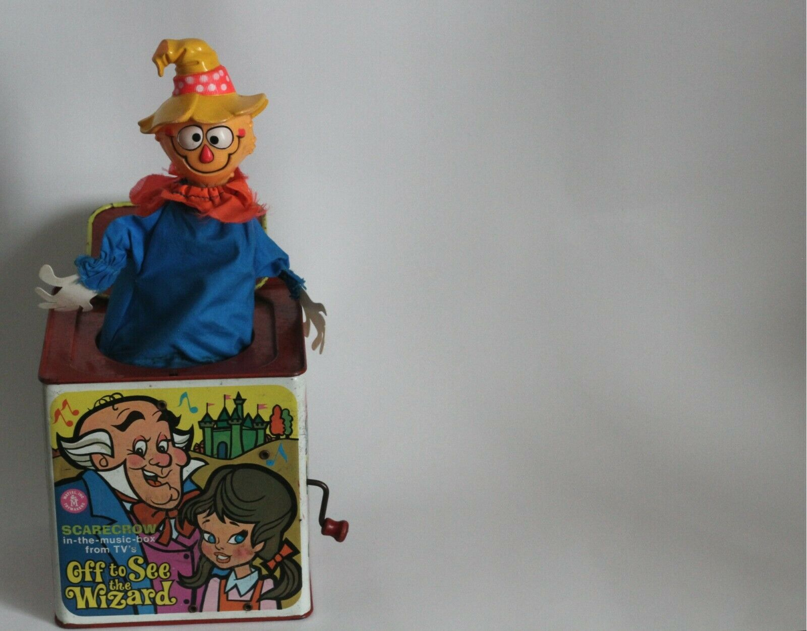 1967 Scarecrow in-the-music-box from Off to See the Wizard