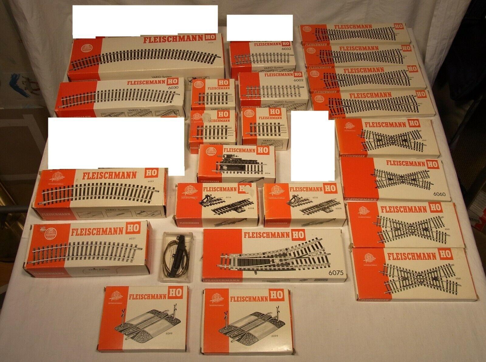 Fleischuomon h0  enorme la raccolta materiale ferroviario, nuovo e nella sua confezione originale top