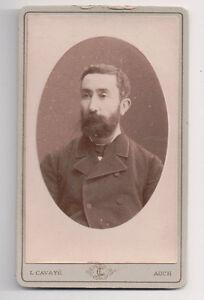 Vintage-CDV-French-Aristocrat-Identified-on-back-Inscribed-L-Cavaye-Photo-Auch