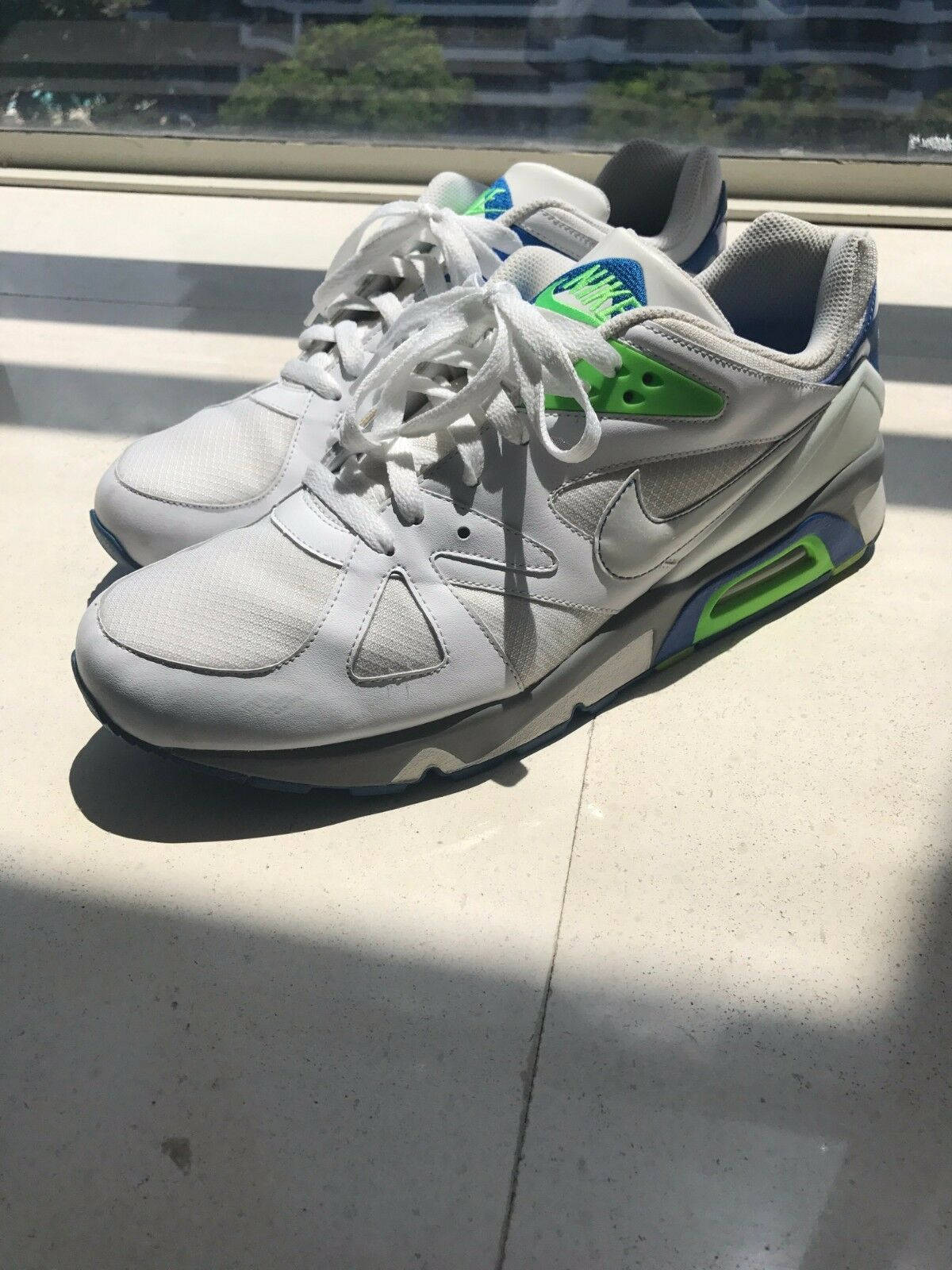 NIKE AIR STRUCTURE TRIAX US 12 white grey blue green Seasonal clearance sale