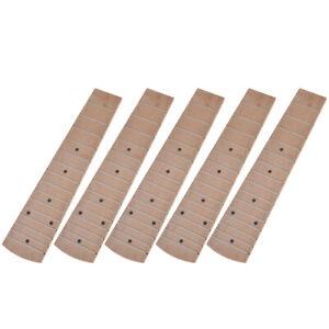5pcs-Maple-Wood-21-inch-Soprano-Ukulele-Fretboard-Fingerboard-15-Frets-Parts