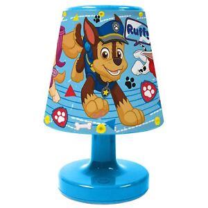 Noche Paw luz de Dormitorio de Niños Azul de ver original Patrol Detalles batería título Lámpara Mesita de De Portátil Ruff LED nwXO8Pk0