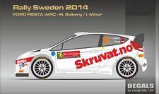DECALS 1/24 FORD FIESTA WRC #16 SOLBERG - RALLYE DE SUEDE 2014 -MF-ZONE DC2410