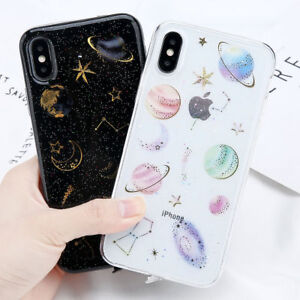 brand new 8dda0 94aea Details about Cosmos Bling Glitter Star Planet Constellation Soft Case For  iPhone X 8 7 6 Plus