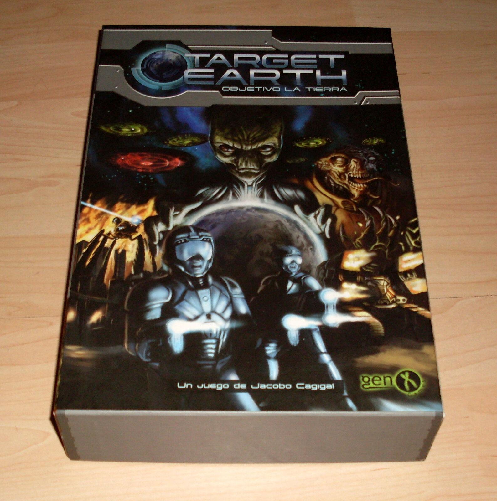 Gen X Games-Target Earth-juego de mesa juego de cartas-completo-buen estado