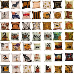 Happy-Halloween-Pillow-Cases-Linen-Sofa-Pumpkin-ghosts-Cushion-Cover-Home-Decor