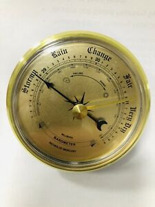2-3-4-034-Barometers-For-Mounting-Weather-Instrument-Gold-Face-W70GBG-OPEN-BOX