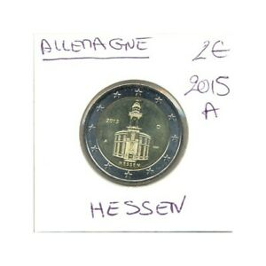 ALLEMAGNE 2015 A 2 EURO COMMEMORATIVE HESSEN SUP