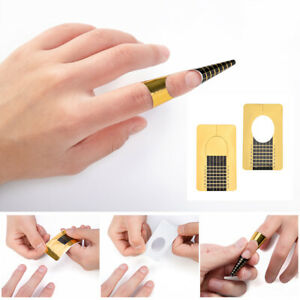 500x-Nail-Forms-Art-Sticker-Self-Adhesive-Extension-Guide-Acrylic-Tips-UV-Gel-UK