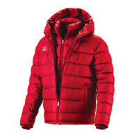 Double Layer Hip Length Down Wellon Winter Jacket Parka Coat - Red - Medium