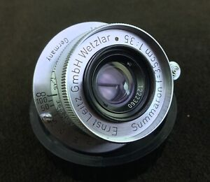 Leitz-Summaron-35mm-F3-5-Lens-Leica-Clear-Glass-and-Smooth-Focus