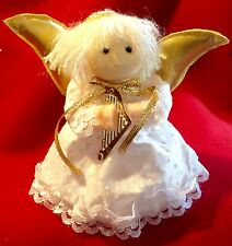 Vintage Miniature Angel Christmas Tree Topper Ornament Styrofoam Felt