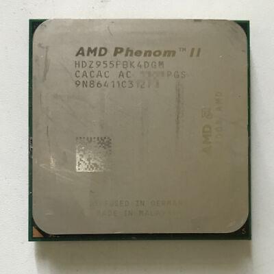 Amd Phenom Ii X4 955 3 2 Ghz Quad Core Black Edition Processor Am3 Am2 125w Cpu Ebay