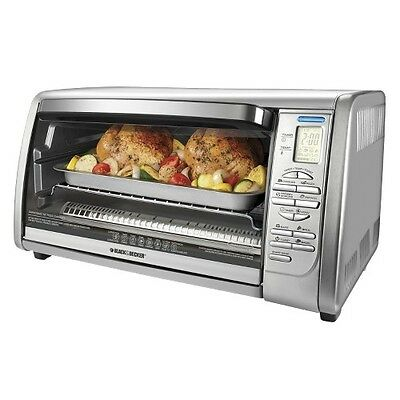 BLACK + DECKER 6-Slice Stainless Steel Convection Oven