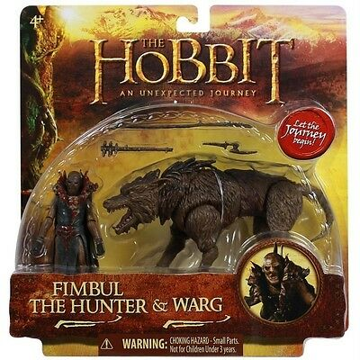 The Hobbit An Unexpected Journey Fimbul the Hunter /& Warg 3.75 Inch Beast Pack