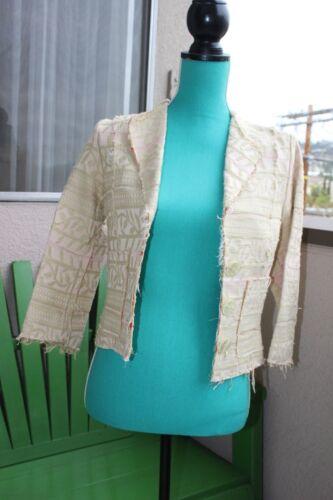 Short Suit Jacket Green Pink Print 2 Womens Coat Blazer Cotton Walter Crop xqf4wIE6y0