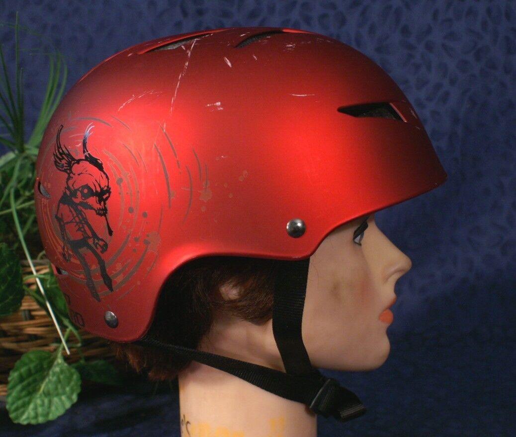Nice Red Metallic GIRO FLAK Ski Snowboard Helmet  S 51-55cm