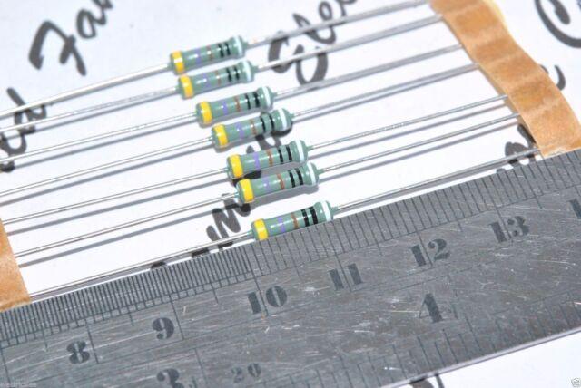 PHILIPS MPR24 475K ohm 0.25W 0.1/% 25ppm 250V Resistor Vishay BC 2pcs