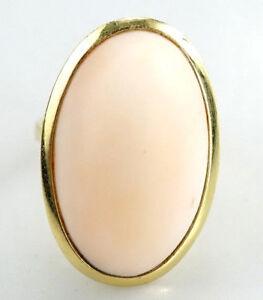 Pompoeser-750er-Gold-Ring-Koralle-18-Karat-Gelbgold-11-20-Gramm-Gr-55