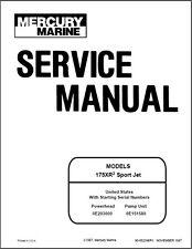 oem mercury service manual sport jet 175xr ebay rh ebay co uk Boat Jet Pump Assembly mercury 175 sport jet manual