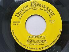 CHACHA SAAVEDRA - Remordimiento / Ajeno 1970's TEX-MEX BOLERO Discos Dominante