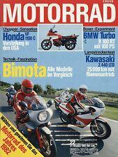 Motorrad 22 1982 Luftmeister BMW R100RT Turbo Bimota SB3 KB3 HB2 KB2 DT50 RD50