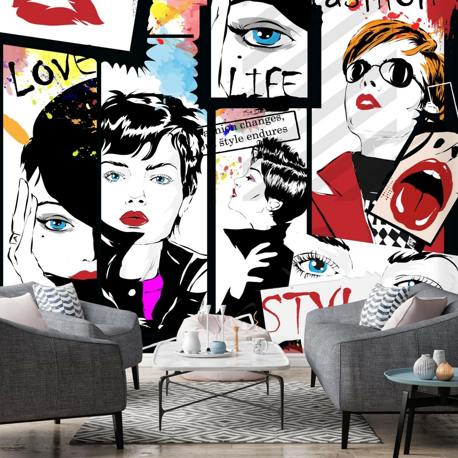 3D Face Girl 7040 Wall Paper Print Wall Decal Deco Indoor Wall Murals US Summer