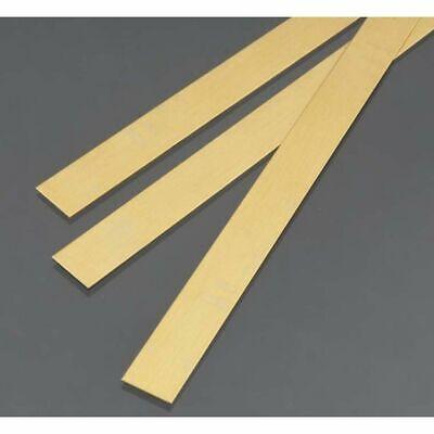 "260 Solid Rectangle Strip 2-12/"" Lengths Brass Flat Stock .025/"" x 2/"" x 1 ft"