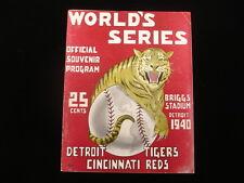 1940 World Series Program Detroit Tigers vs. Cincinnati Reds