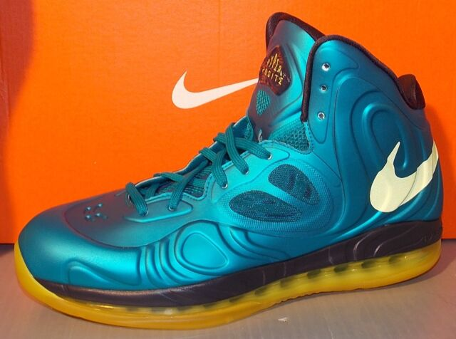 MENS NIKE AIR MAX HYPERPOSITE TEAL SNC YELLOW BLPRNT SIZE 9.5